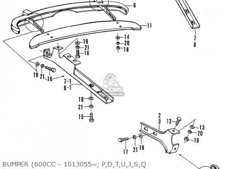 Honda N600 Coupe Stationwagon kg Kf Ke Kb Kq Ks Kj Kp Kd Kt Ku Bumper 600cc - 1013055~  P d t u j s q