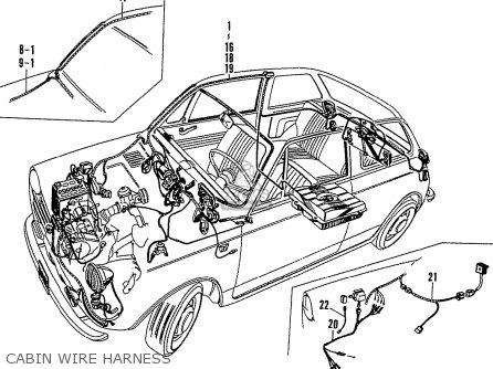 Honda N600 Coupe Stationwagon kg Kf Ke Kb Kq Ks Kj Kp Kd Kt Ku Cabin Wire Harness