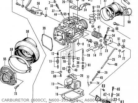 Honda N600 Coupe Stationwagon kg Kf Ke Kb Kq Ks Kj Kp Kd Kt Ku Carburetor 600cc  N600-1033029~  A600-5002464~