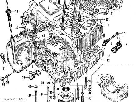 Honda N600 Coupe Stationwagon kg Kf Ke Kb Kq Ks Kj Kp Kd Kt Ku Crankcase