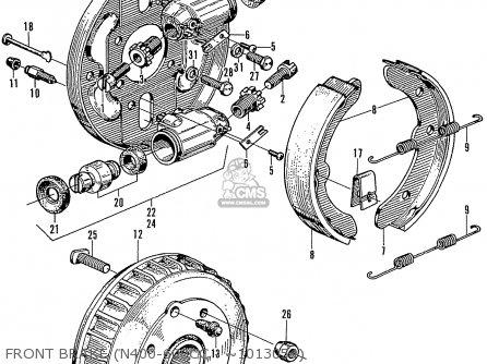 Honda N600 Coupe Stationwagon kg Kf Ke Kb Kq Ks Kj Kp Kd Kt Ku Front Brake n400-600cc - ~1013054