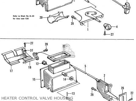 Honda N600 Coupe Stationwagon kg Kf Ke Kb Kq Ks Kj Kp Kd Kt Ku Heater Control Valve Housing