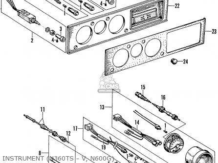 Honda N600 Coupe Stationwagon kg Kf Ke Kb Kq Ks Kj Kp Kd Kt Ku Instrument n360ts - V  N600g