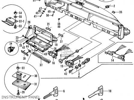 Honda N600 Coupe Stationwagon kg Kf Ke Kb Kq Ks Kj Kp Kd Kt Ku Instrument Panel