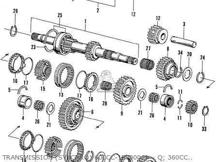Honda N600 Coupe Stationwagon kg Kf Ke Kb Kq Ks Kj Kp Kd Kt Ku Transmission synchro 600cc-1500001~ - Q  360cc-2219114~ - Q