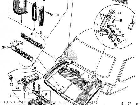 Honda N600 Coupe Stationwagon kg Kf Ke Kb Kq Ks Kj Kp Kd Kt Ku Trunk sedan - License Light e g j s q