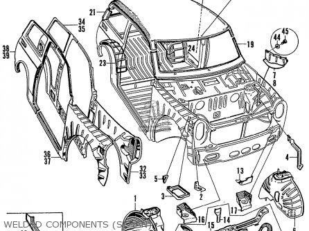Honda N600 Coupe Stationwagon kg Kf Ke Kb Kq Ks Kj Kp Kd Kt Ku Welded Components sedan