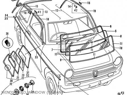 Honda N600 Coupe Stationwagon kg Kf Ke Kb Kq Ks Kj Kp Kd Kt Ku Windshield Window sedan