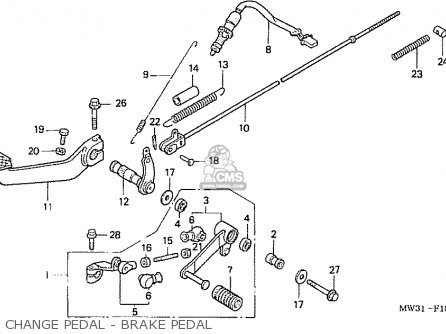 Honda Nas750m Rc39 Japanese Domestic Change Pedal - Brake Pedal
