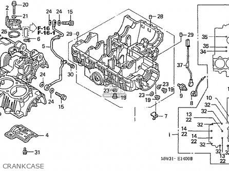 Honda Nas750m Rc39 Japanese Domestic Crankcase