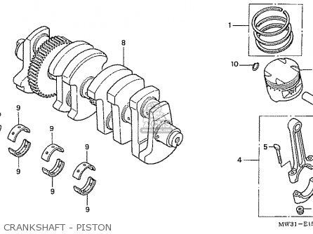 Honda Nas750m Rc39 Japanese Domestic Crankshaft - Piston