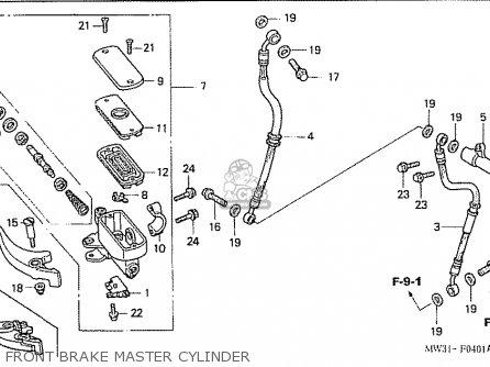 Honda Nas750m Rc39 Japanese Domestic Front Brake Master Cylinder