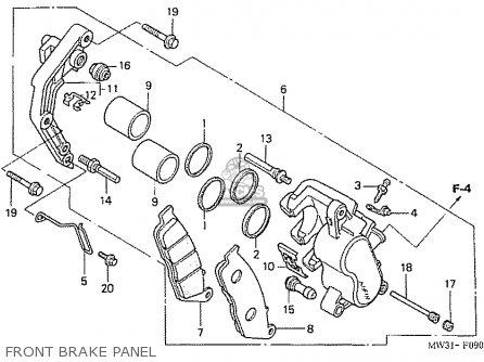 Honda Nas750m Rc39 Japanese Domestic Front Brake Panel