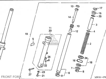 Honda Nas750m Rc39 Japanese Domestic Front Fork