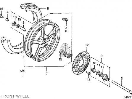 Honda Nas750m Rc39 Japanese Domestic Front Wheel