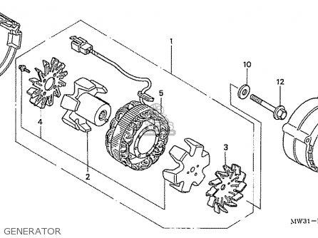 Honda Nas750m Rc39 Japanese Domestic Generator