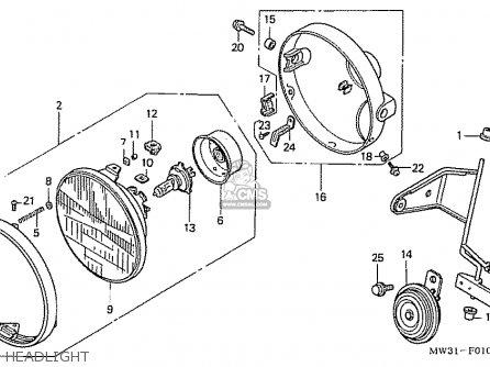 Honda Nas750m Rc39 Japanese Domestic Headlight