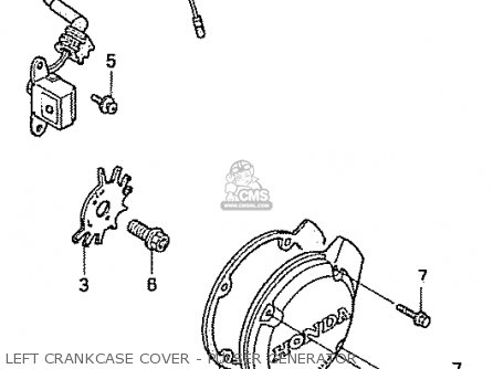 Honda Nas750m Rc39 Japanese Domestic Left Crankcase Cover - Pulser Generator