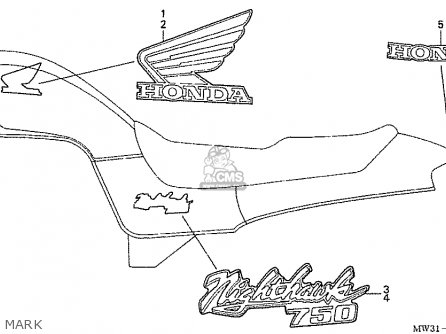 Honda Nas750m Rc39 Japanese Domestic Mark