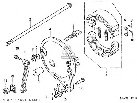 Honda Nas750m Rc39 Japanese Domestic Rear Brake Panel