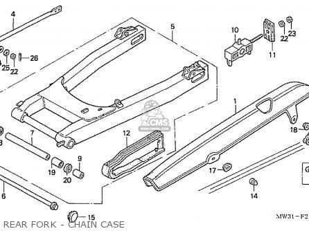 Honda Nas750m Rc39 Japanese Domestic Rear Fork - Chain Case