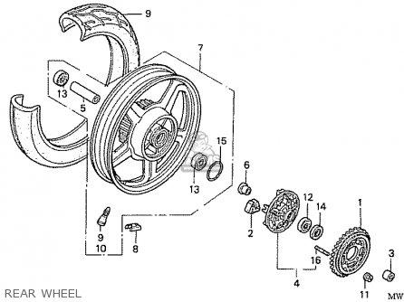 Honda Nas750m Rc39 Japanese Domestic Rear Wheel