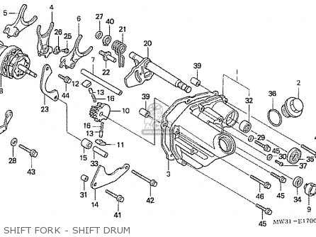 Honda Nas750m Rc39 Japanese Domestic Shift Fork - Shift Drum