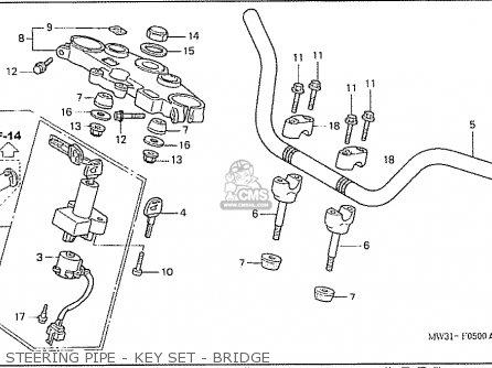 Honda Nas750m Rc39 Japanese Domestic Steering Pipe - Key Set - Bridge