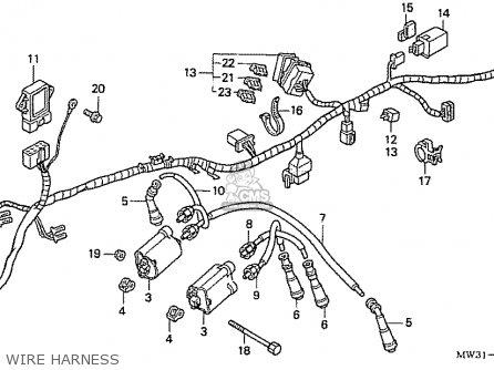 Honda Nas750m Rc39 Japanese Domestic Wire Harness