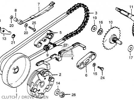 honda nc50 express 1977 usa parts list partsmanual partsfiche