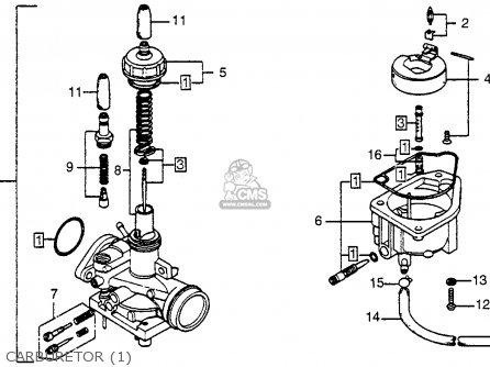 honda nc50 express 1978 usa parts lists and schematics