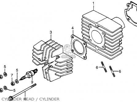 Honda Nc50 Express 1979 Usa Cylinder Head   Cylinder