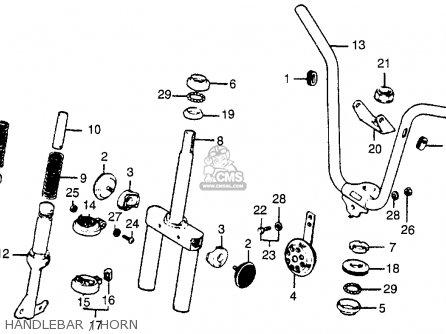 Honda Nc50 Express 1979 Usa Handlebar   Horn