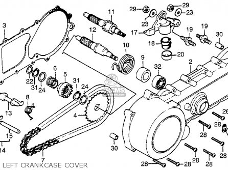 Honda Nc50 Express 1979 z Usa Left Crankcase Cover
