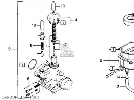 honda nc50 express 1980  a  usa parts list partsmanual