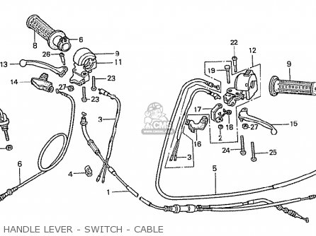 honda ncz50 motocompo 1981 b france parts lists and. Black Bedroom Furniture Sets. Home Design Ideas
