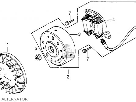 Honda Nh125 1984 Aero 125 Usa Alternator