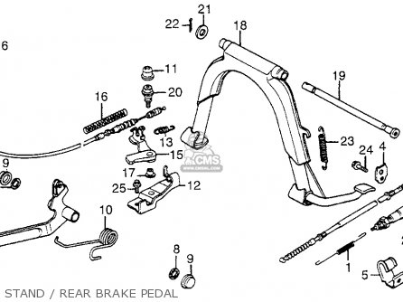 Honda Nh125 1984 Aero 125 Usa Stand   Rear Brake Pedal
