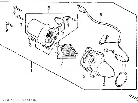 Honda Nh125 1984 Aero 125 Usa Starter Motor