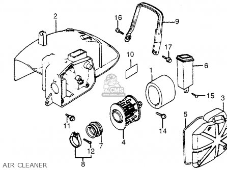 Honda Nh125 Aero 125 1984 e Usa Air Cleaner