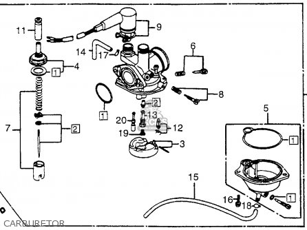 Honda Nh125 Aero 125 1984 e Usa Carburetor