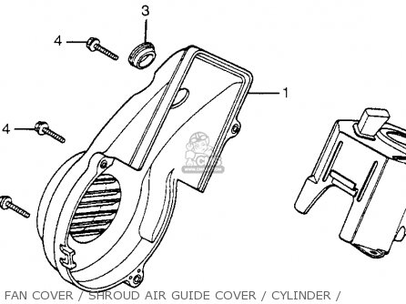 Honda Nh125 Aero 125 1984 e Usa Fan Cover   Shroud Air Guide Cover   Cylinder
