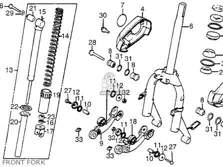 Honda Nh125 Aero 125 1984 e Usa Front Fork