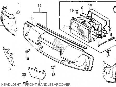 Honda Nh125 Aero 125 1984 e Usa Headlight   Front Handlebarcover