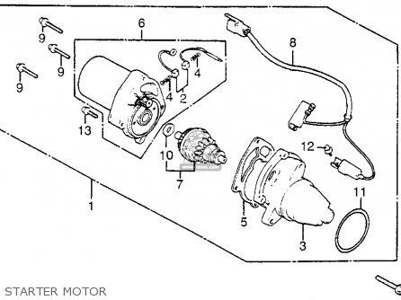 Honda Nh125 Aero 125 1984 e Usa Starter Motor
