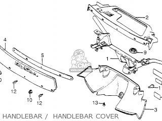 Honda Nh80md Aero 80 1983 d Usa Handlebar    Handlebar Cover