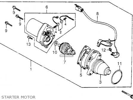 Honda Nh80md Aero 80 1983 d Usa Starter Motor