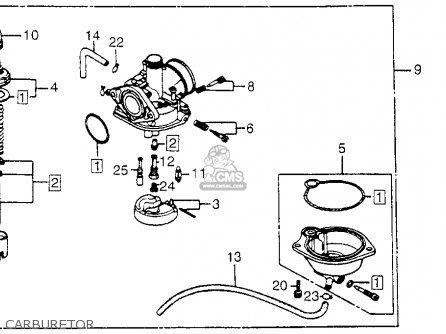 Honda Nh80md Aero 80 1983 Usa Carburetor