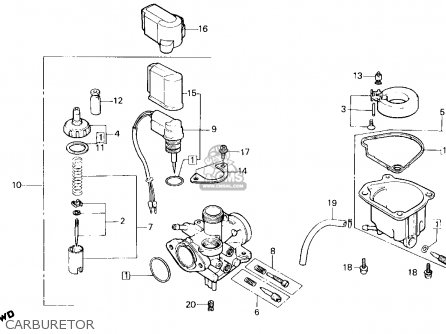 1986 Honda Spree Engine Diagram