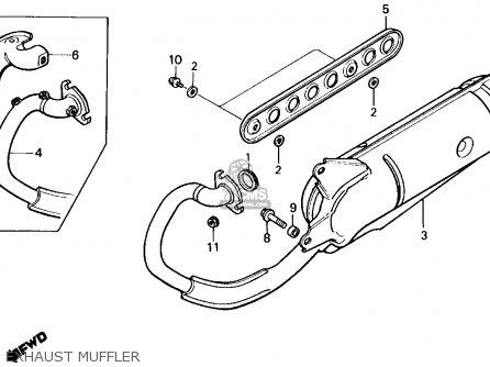 Honda Nq50d 1986 Spree Special Usa Exhaust Muffler